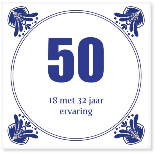 50 jarige tegeltjeswijsheid cadeau