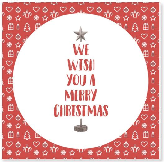 kerst wenstegel cadeau