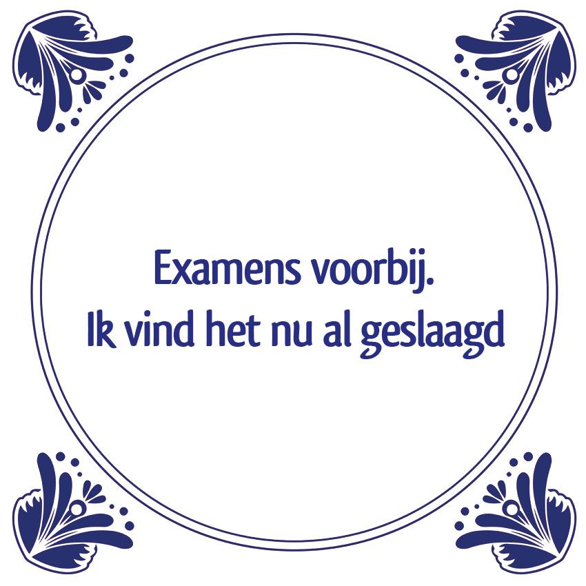 examens tegeltje