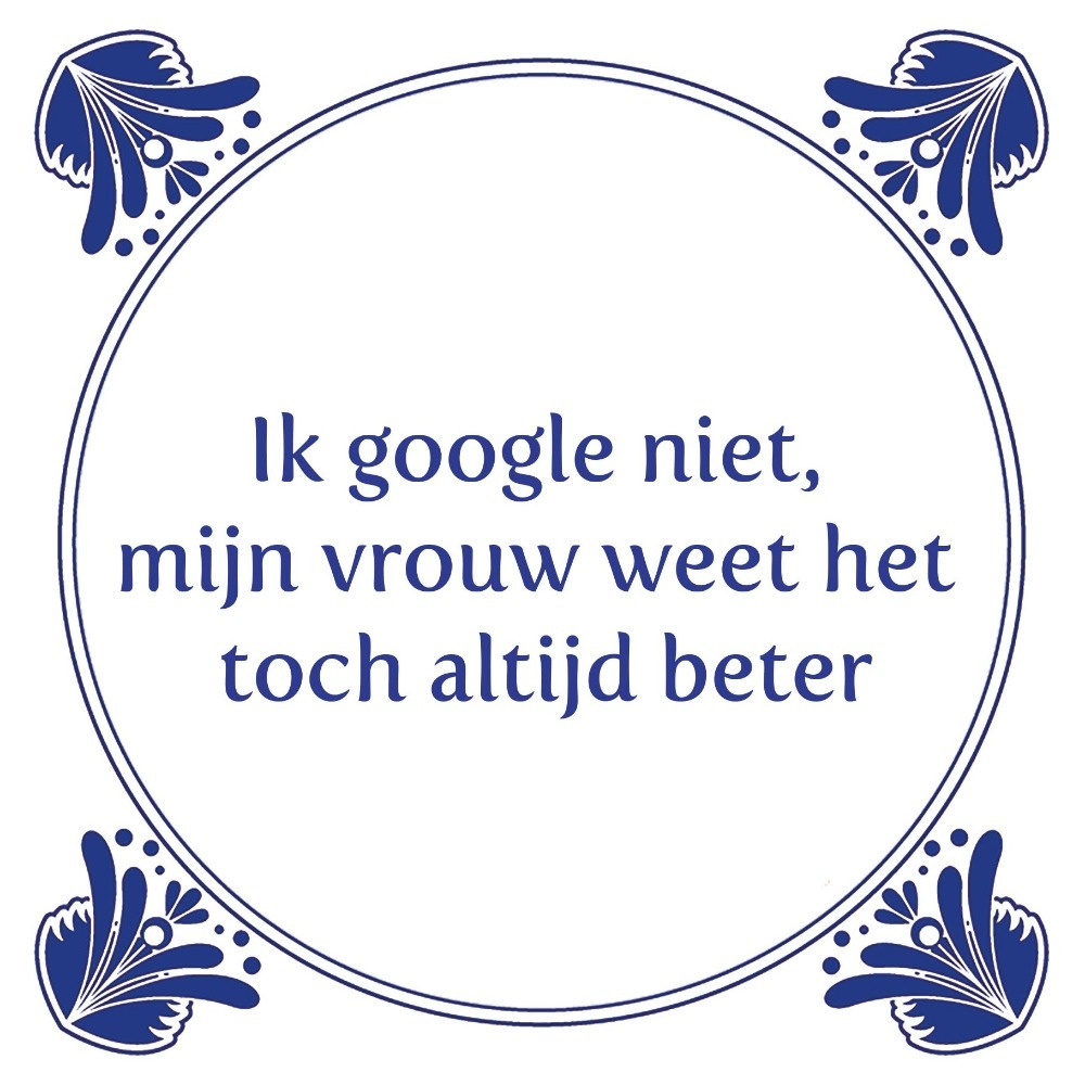 Ik google niet