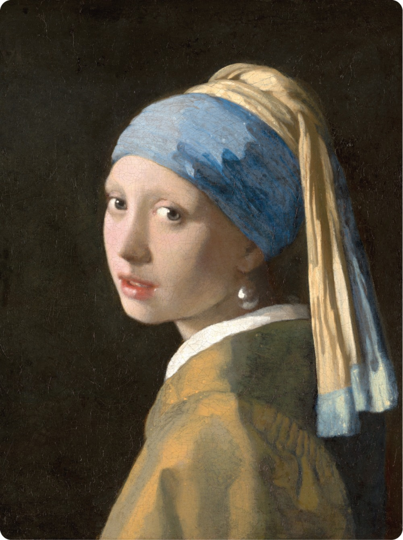 Meisje met de parel - Houten bord (Klein)