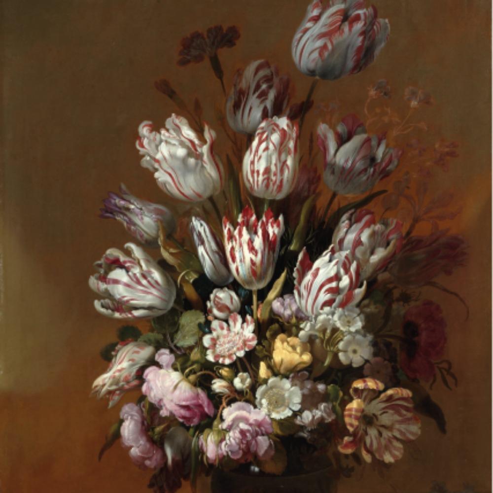 Stilleven met bloemen - Tegeltje