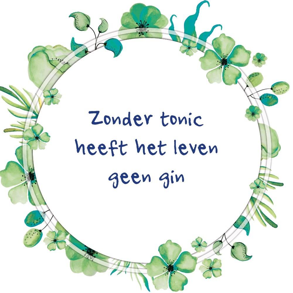 Zonder tonic heeft het leven geen gin - Tegeltje