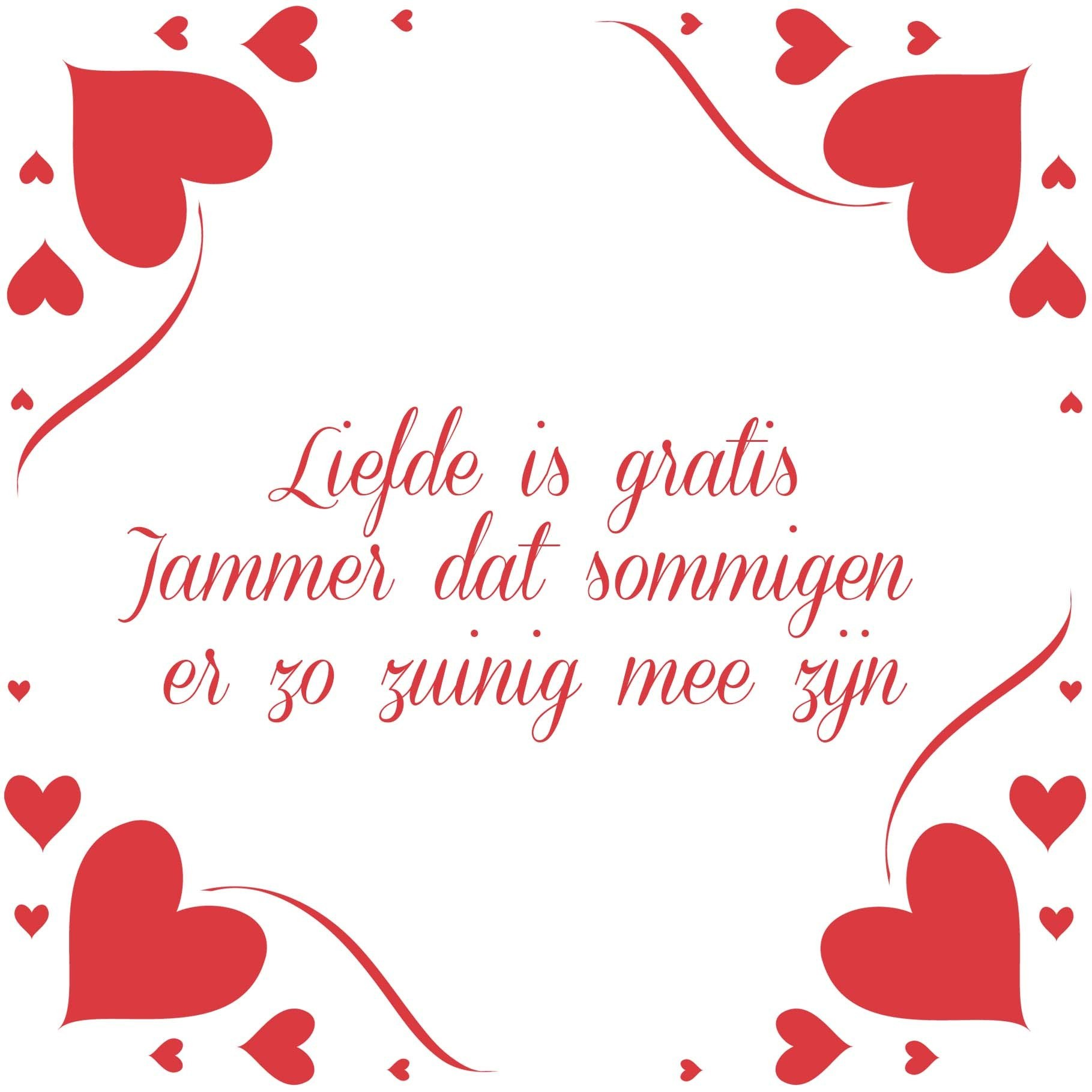 Liefde is gratis